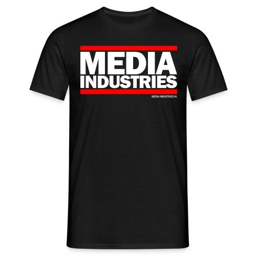 Media Industries - Zwart - Mannen T-shirt