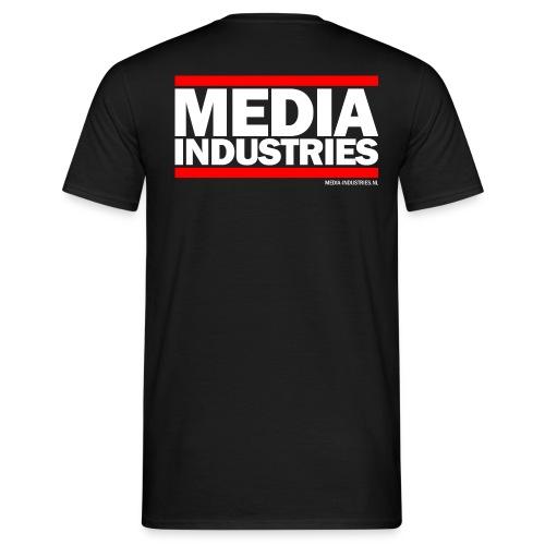 Media Industries Achterkant - Zwart - Mannen T-shirt