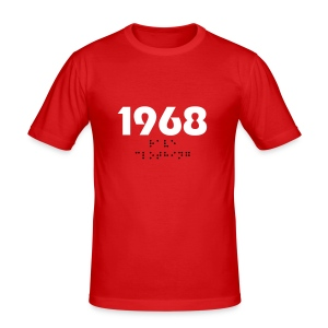 Red 1968 T-Shirt - Men's Slim Fit T-Shirt