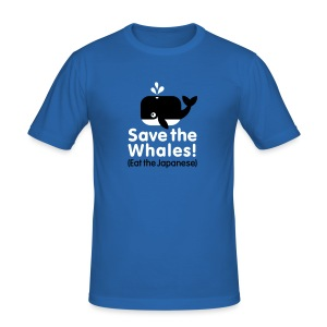Save the whales! Eat the Japanese Slimfit - slim fit T-shirt