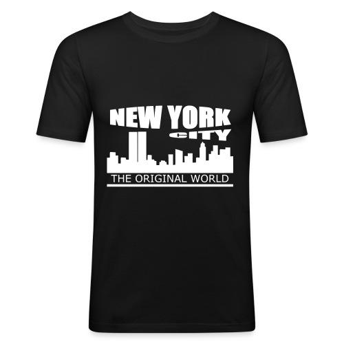T shirt homme new york city - T-shirt près du corps Homme