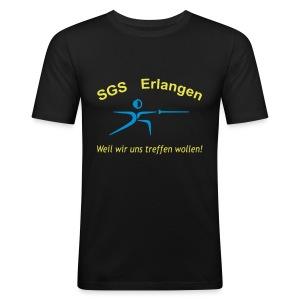 SGS Männer Schwarz Slim - Männer Slim Fit T-Shirt