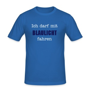 Blaulicht - Männer Slim Fit T-Shirt