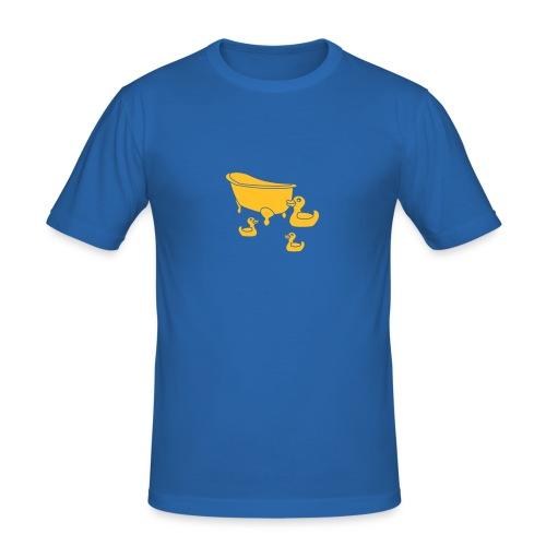 Vintage Retro Comic Swimming Pool Ducks Holiday - Männer Slim Fit T-Shirt