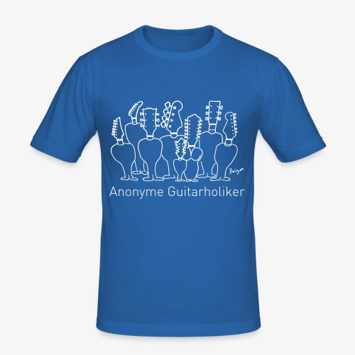 "Pingo, Band, Fanshirt ""Anonyme Guitarholiker"" - Männer Slim Fit T-Shirt"