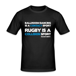 Rugby Is a Collision Sport - Men's Slim Fit T-Shirt