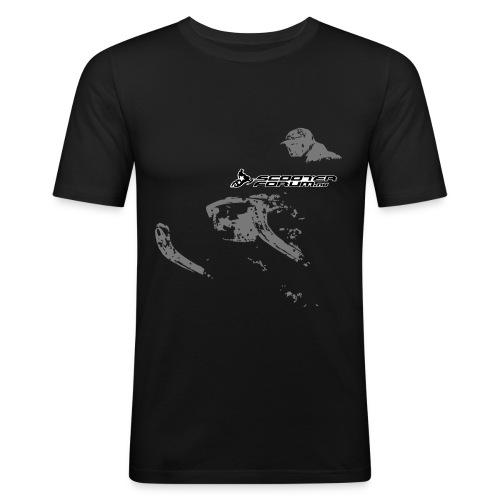 Slim-fit t-skjorte (trykk begge sider) - Slim Fit T-skjorte for menn
