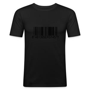 95ers Barcode Fanshirt - Männer Slim Fit T-Shirt