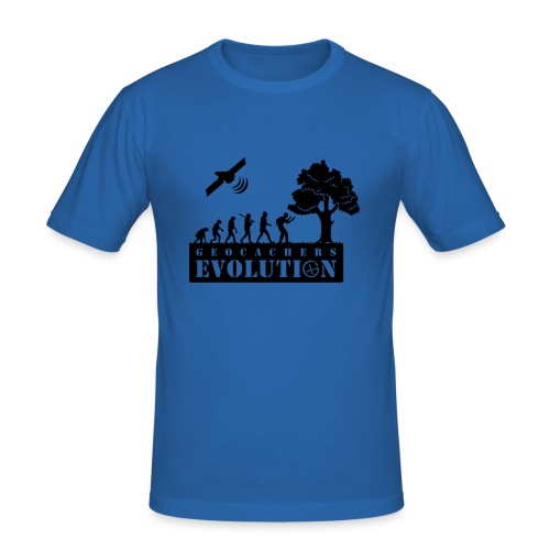 Geocachers Evolution - Männer Slim Fit T-Shirt