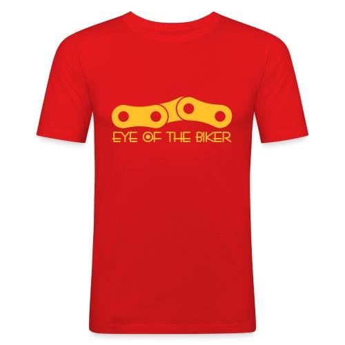 Eye Of The Biker - Chain - orange/gold yellow - Männer Slim Fit T-Shirt