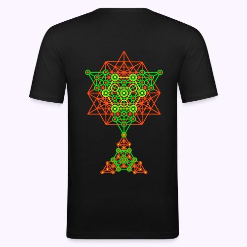 Equilibrium UV-Neon 2-Side Print - Slim-Fit - Men's Slim Fit T-Shirt