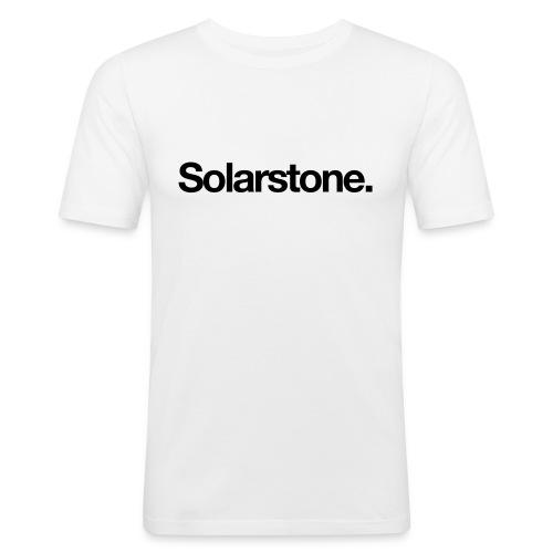 Solarstone [Male] Black on White - Men's Slim Fit T-Shirt