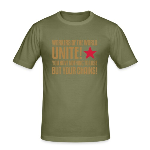 Workers Unite! Slim Fit Tee - Men's Slim Fit T-Shirt