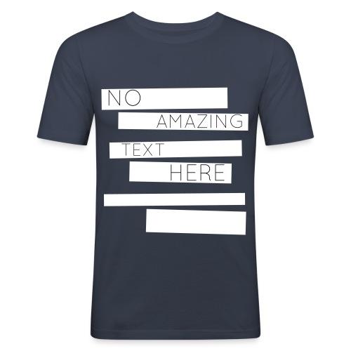 NoText (White) - Männer Slim Fit T-Shirt