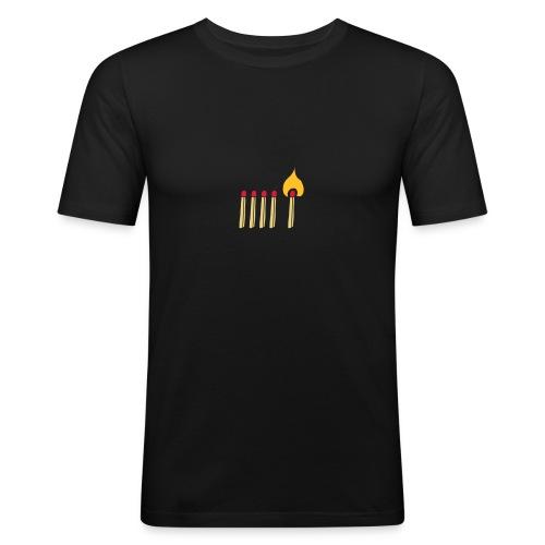 Streichholz Matchsticks Feuer Fire brennen burning - Männer Slim Fit T-Shirt