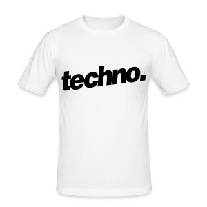 "Slim-Fit Shirt ""techno. #1"" - Männer Slim Fit T-Shirt"
