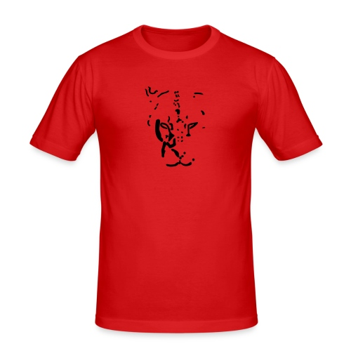 Lioness staring straight ahead - Men's Slim Fit T-Shirt