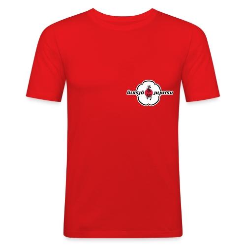 Logo på bröst. - Slim Fit T-shirt herr