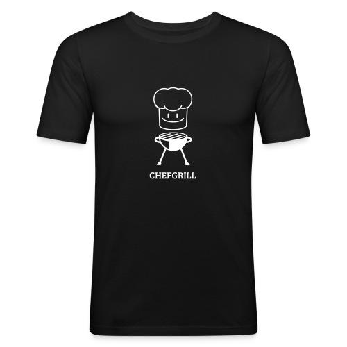 Männer Slim Fit Shirt von Hanes (weißes Maskottchen) - Männer Slim Fit T-Shirt