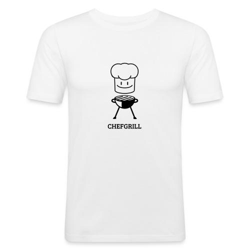 Männer Slim Fit Shirt von Hanes (schwarzes Maskottchen) - Männer Slim Fit T-Shirt