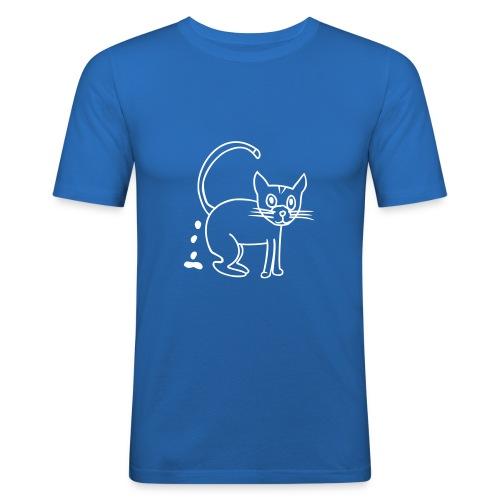 Katzen-Shirt - Männer Slim Fit T-Shirt