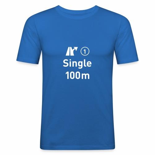 Single, Ausfahrt, 100m, Liebe, solo - Männer Slim Fit T-Shirt