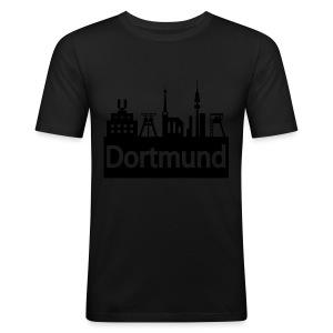 Dortmund Skyline - Shirt - Männer Slim Fit T-Shirt