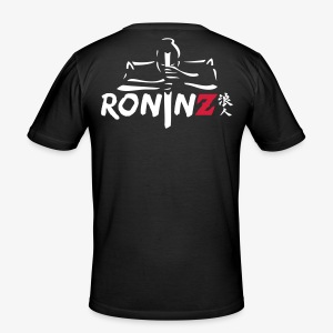 RoninZ Shirt Samurai  -back - Männer Slim Fit T-Shirt