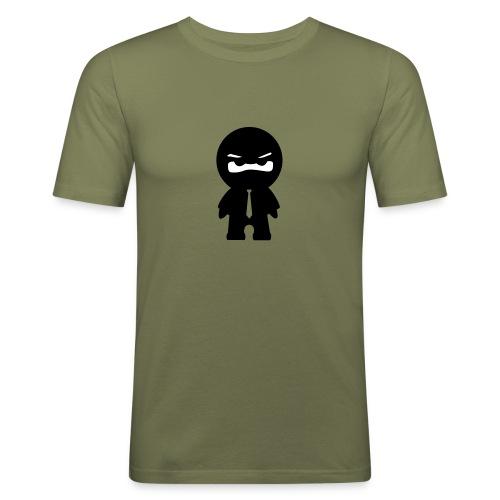 Ninja mit bunter Krawatte - Männer Slim Fit T-Shirt