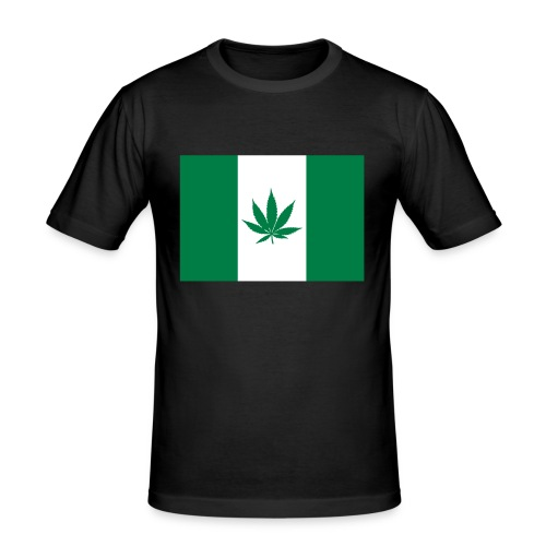 Canabian Flag Green - Men's Slim Fit T-Shirt