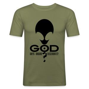 Alien God? - Men's Slim Fit T-Shirt