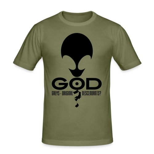 Alien God? - Men's Slim Fit T-Shirt