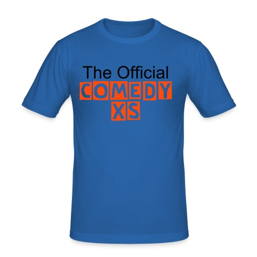"The Official ComedyXS ""Blau"" - Männer Slim Fit T-Shirt"