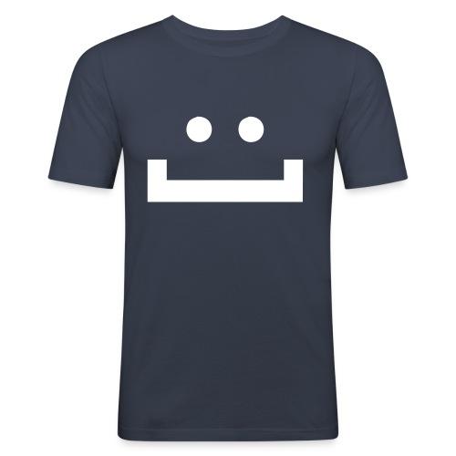 figurbetontes noobysmiley-Shirt! - Männer Slim Fit T-Shirt