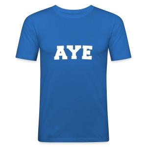 Scotland Aye Mens T Shirt Blue - Men's Slim Fit T-Shirt