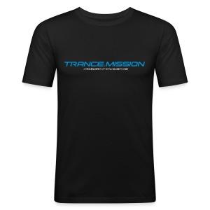 Trance.Mission (m) slim fit (black) - Männer Slim Fit T-Shirt