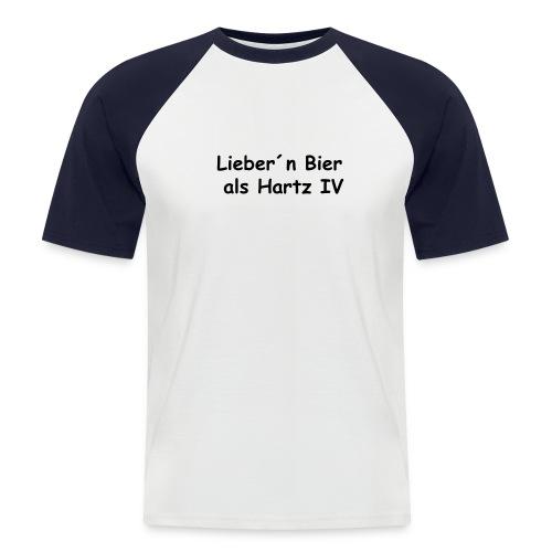 Hartz4 - Männer Baseball-T-Shirt