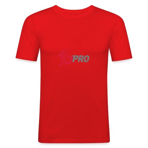 4D PRO Männer SLIM FIT Shirt - HARD WORK IS NOW HARD FUN - Männer Slim Fit T-Shirt