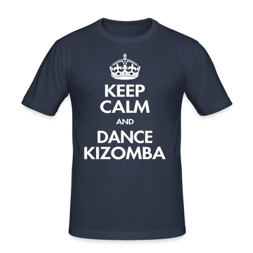 Keep calm and dance kizomba - T-shirt près du corps Homme