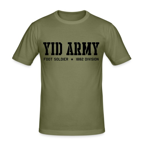 YID ARMY!! (olive) - Men's Slim Fit T-Shirt
