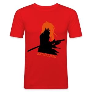 Battojutsu Kenshin ~ Limited ~ Red [Male] - Men's Slim Fit T-Shirt