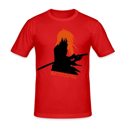 Battojutsu Kenshin ~ Limited ~ Red [Male] - Men's Slim Fit T-Shirt
