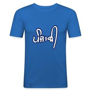 Navy Punjabi Tee - Men's Slim Fit T-Shirt