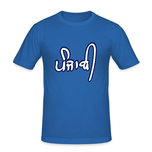 Navy Punjabi Tee - Men's Slim Fit T-Shirt