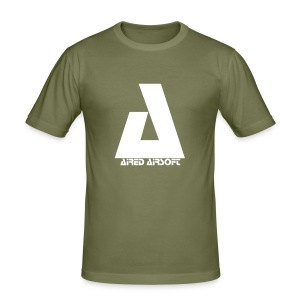 Olive Green Aired Airsoft T-Shirt - Men's Slim Fit T-Shirt