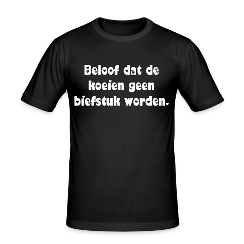 Koe geen biefstuk - Men's Slim Fit T-Shirt