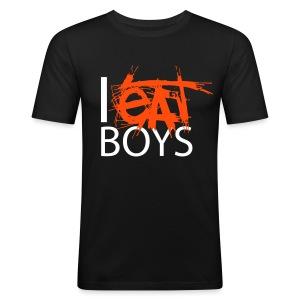 I EAT BOYS - Men's Slim Fit T-Shirt
