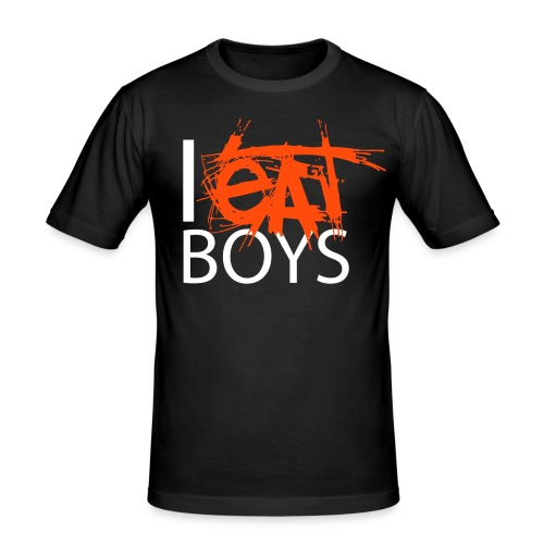 I EAT BOYS - Men's Slim Fit T-Shirt