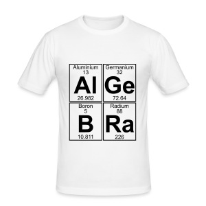 Al-Ge-B-Ra (algebra) - Men's Slim Fit T-Shirt