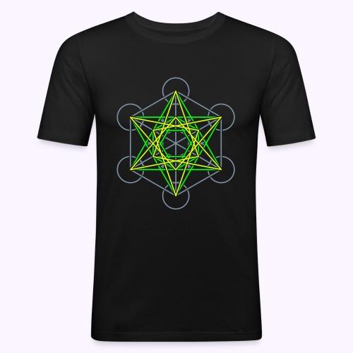 Metatron Cube 3-Color Men's Slim Fit Shirt - T-shirt près du corps Homme